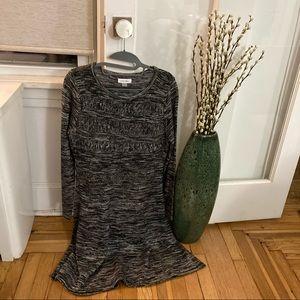 NWT Calvin Klein B&W Detailed Sweater Dress Size M